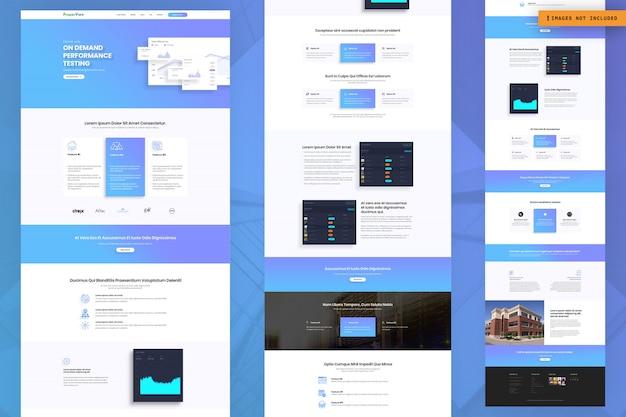 Modello di pagina web del test delle prestazioni