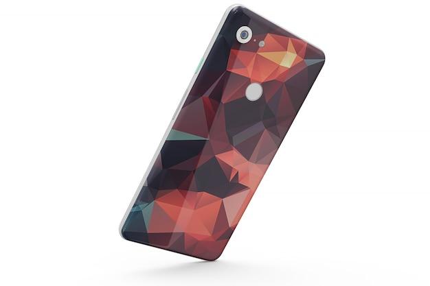 Modello di pelle smartphone isolato
