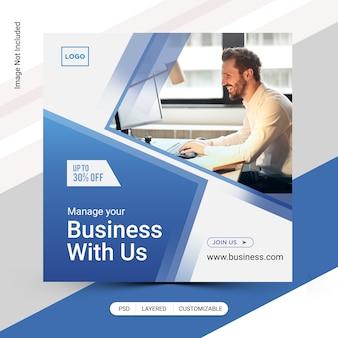 Modello di post di affari