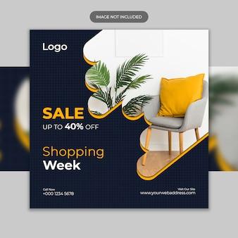 Modello di post di instagram di vendita di mobili