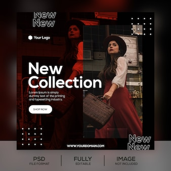 Modello di post di instagram di vendita di moda di due tonalità