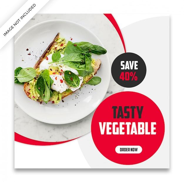 Modello di post di instagram dinamico alimentare