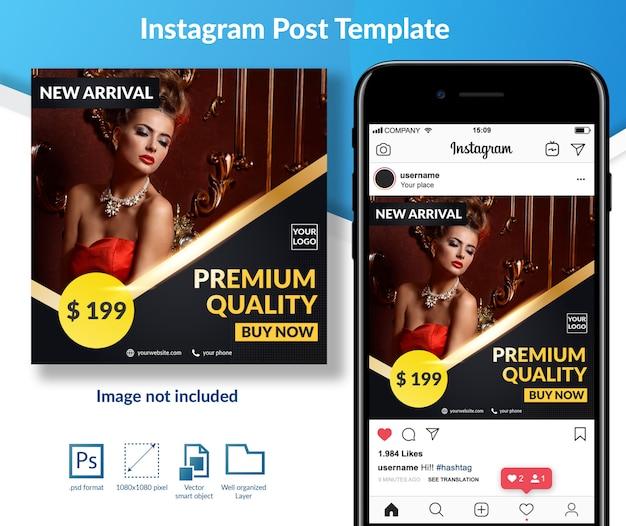 Modello di post di media sociali di vendita di moda premium