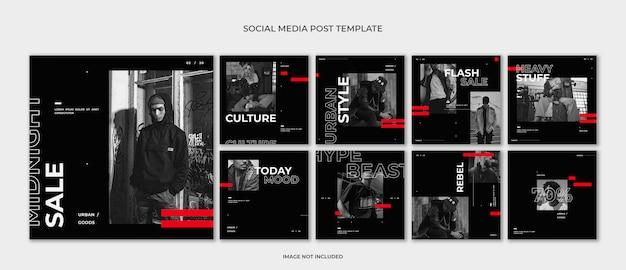 Modello di post di moda social media