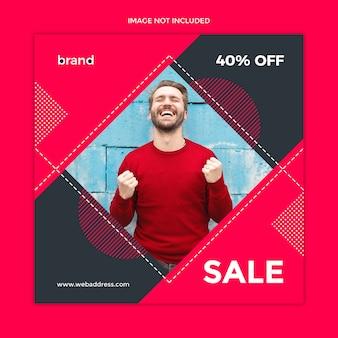 Modello di post di social media di vendita
