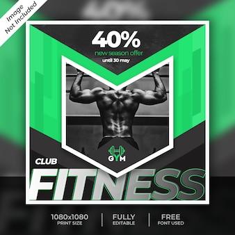 Modello di post di social media fitness
