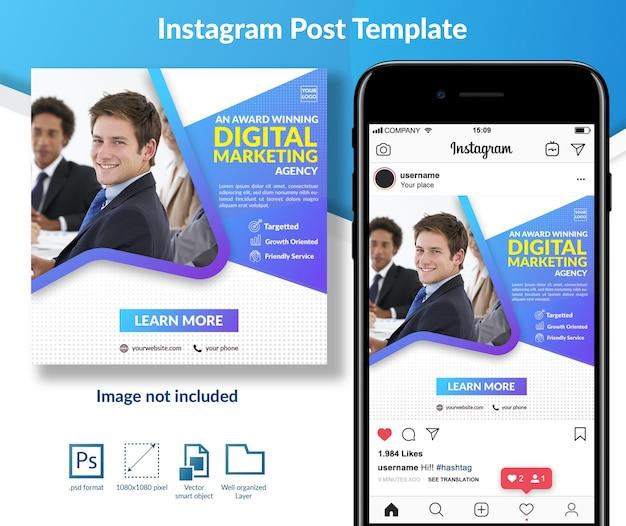 Modello di post di social media marketing digitale