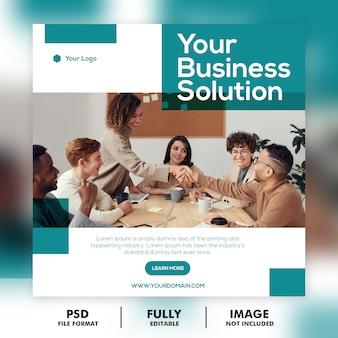 Modello di post di social media marketing web