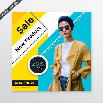 Modello di post di social media moda di vendita