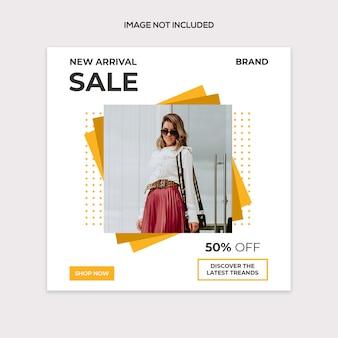Modello di post moderno vendita sociale
