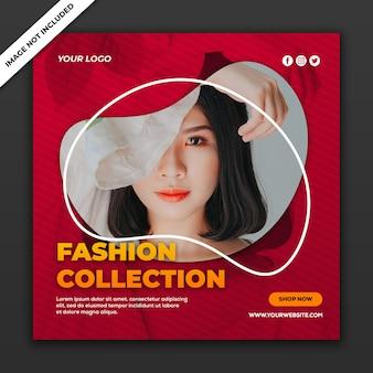 Modello di post social media collezione di vendita di moda di instagram