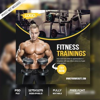 Modello di post social media fitness