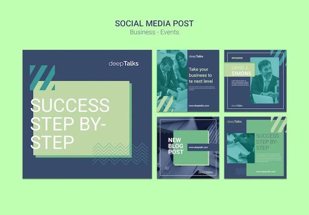 Modello di post social media per evento aziendale