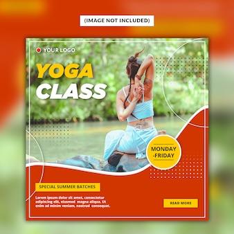 Modello di post social media yoga