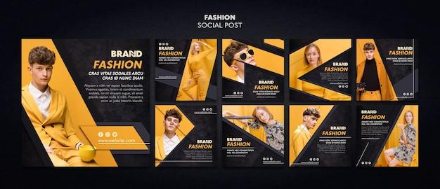 Modello di post sociale di moda