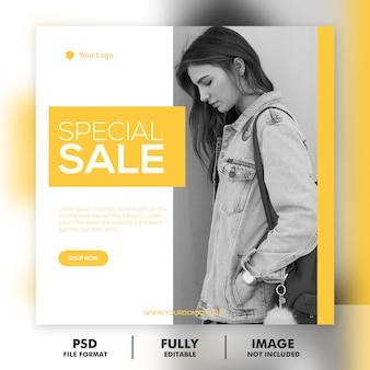 Modello di post speciale instagram social media vendita