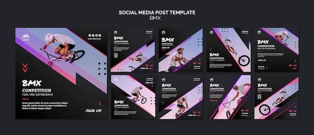 Modello di post sui social media bmx