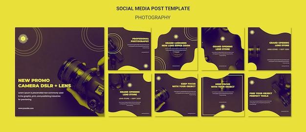 Modello di post sui social media di annunci fotografici