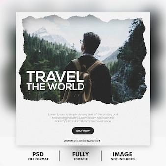 Modello di post tour di viaggio