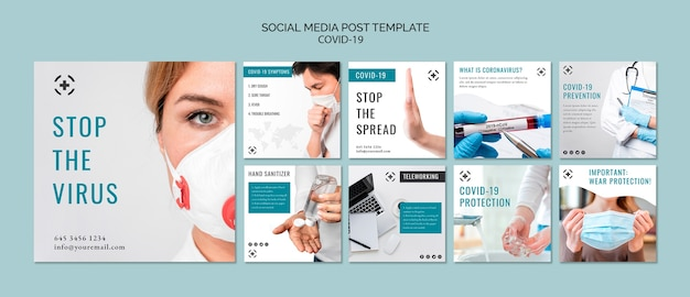 Modello di post virus social media