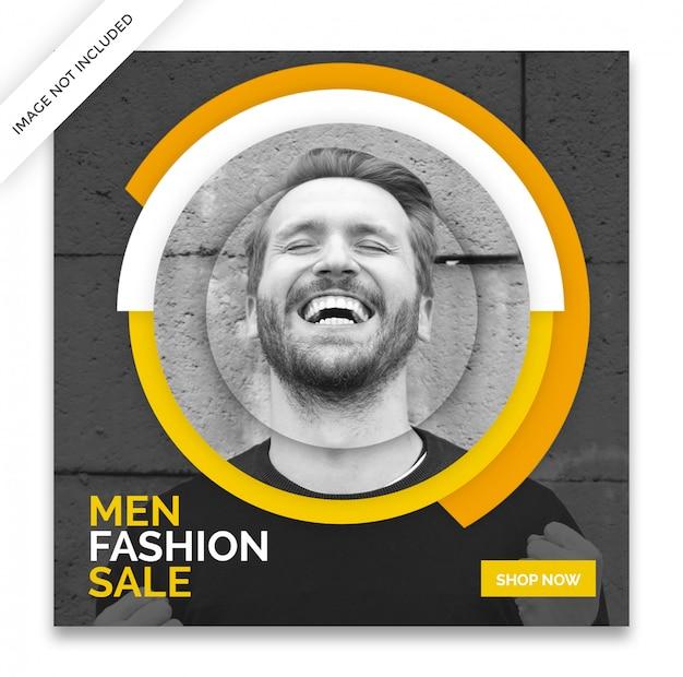 Modello di posta giallo instagram dinamico