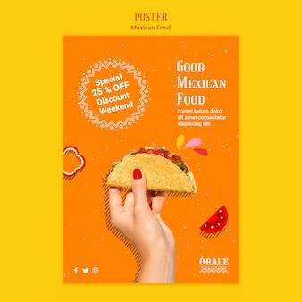 Modello di poster cibo messicano