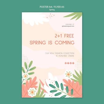Modello di poster collezione primavera