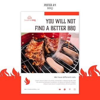 Modello di poster con barbecue