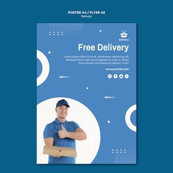 Modello di poster con consegna gratuita