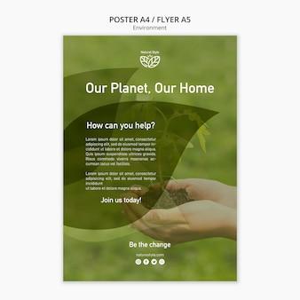 Modello di poster con tema ambientale