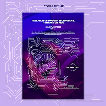 Modello di poster concetto di tecnologia e futuro