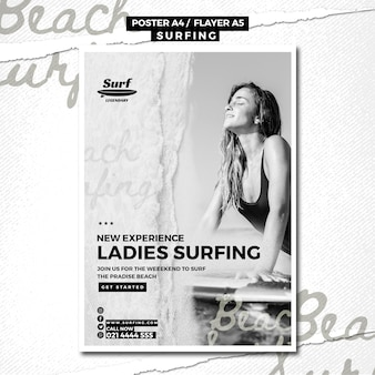 Modello di poster da surf