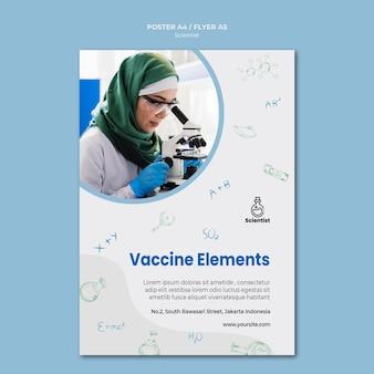 Modello di poster del club della scienza