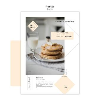 Modello di poster delizioso brunch