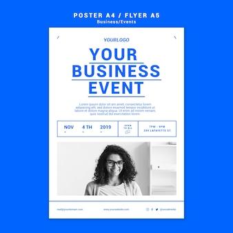 Modello di poster di affari professionali