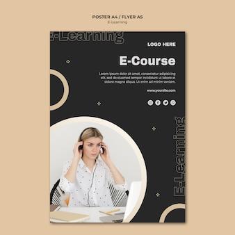 Modello di poster di apprendimento online