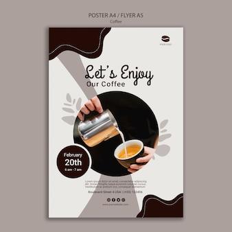 Modello di poster di caffè delizioso