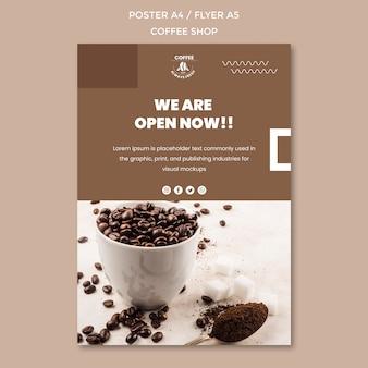 Modello di poster di caffetteria