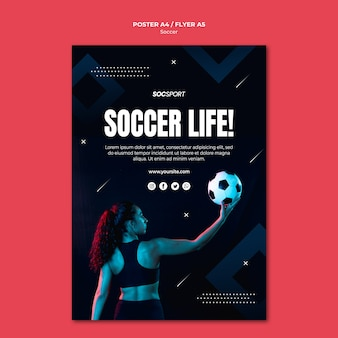 Modello di poster di calcio
