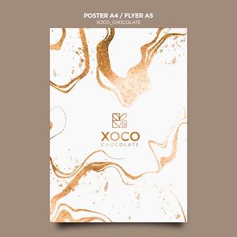 Modello di poster di cioccolato xoco