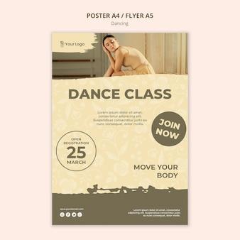 Modello di poster di classe di danza