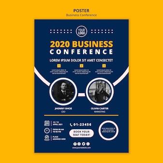 Modello di poster di concetto di conferenza d'affari
