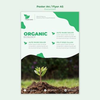 Modello di poster di ecologia organica
