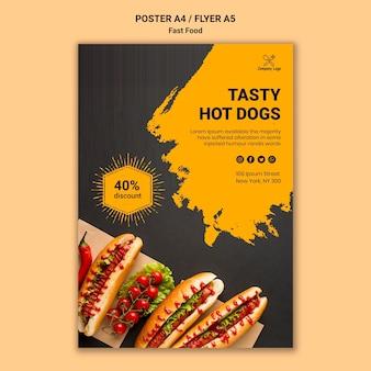 Modello di poster di fast food