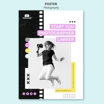 Modello di poster di fotografia creativa