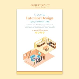Modello di poster di interior design