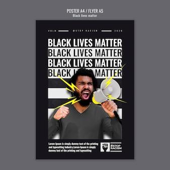 Modello di poster di materia di vite nere