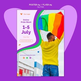 Modello di poster di orgoglio gay