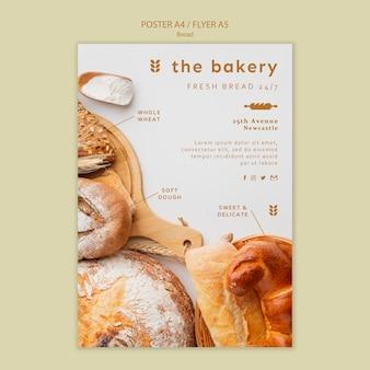 Modello di poster di pane sempre fresco