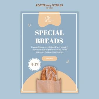 Modello di poster di pane speciale